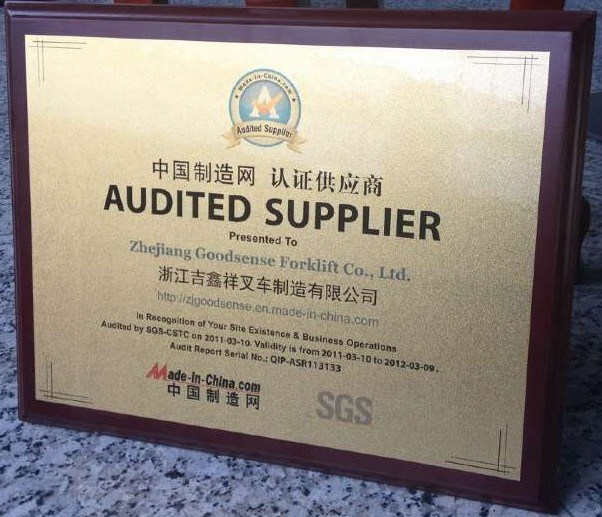 GOODSENSE 2012 AUDITED SUPPLIER