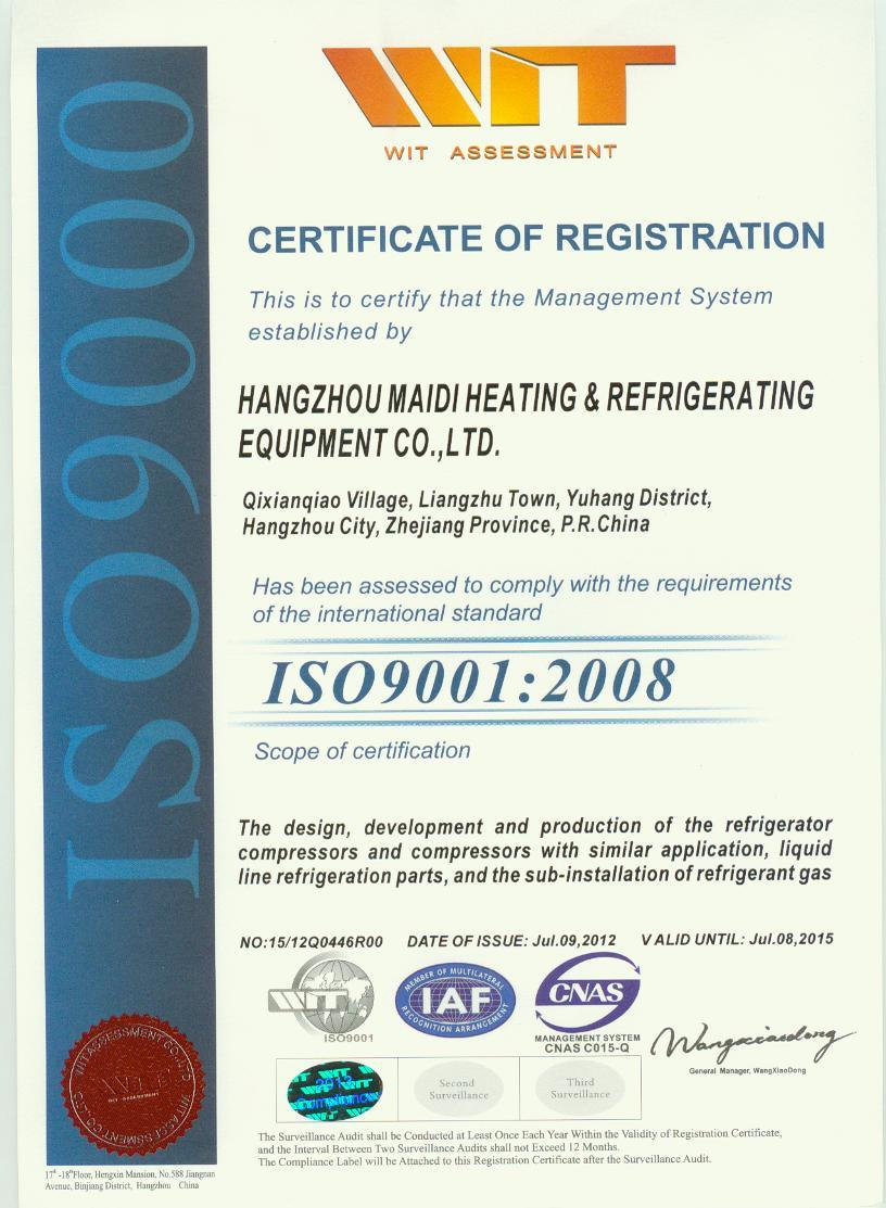 Certification ISO9001:2008