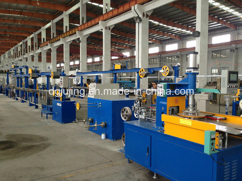 Building cable security cable extrusion line