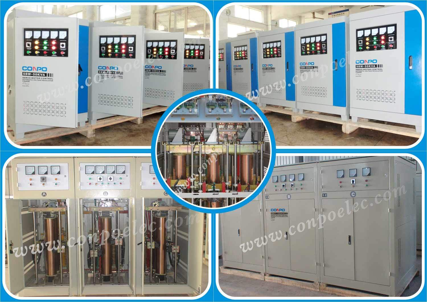 S(D)BW-F series Full-Auotmatic Compensated Voltage Stabilizer/Regulator 1Phase/3Phase