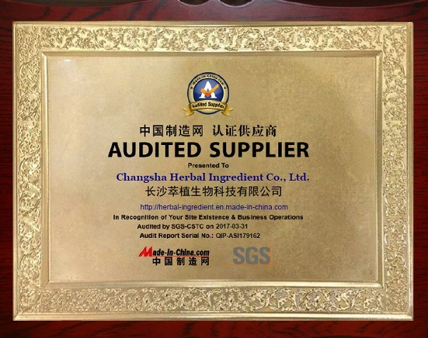 MIC AUDITED SUPPLIER for PLANT EXTRACT and HERBAL INGREDIENTS