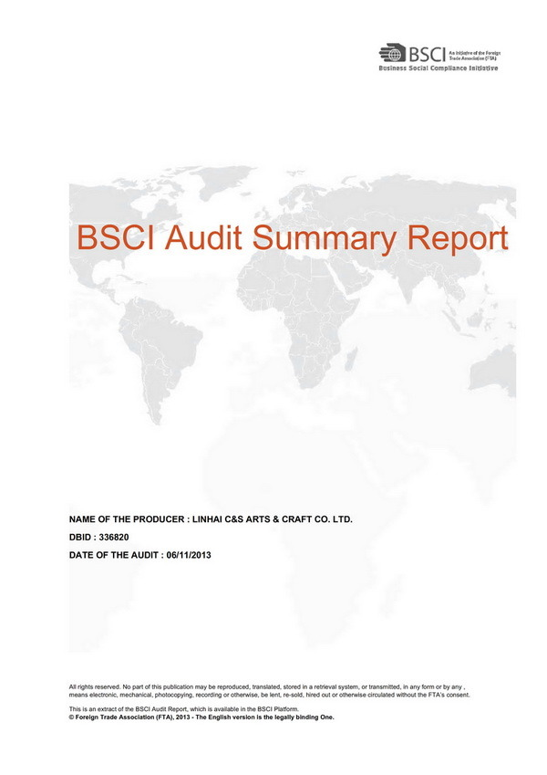 BSCI Factory Audit