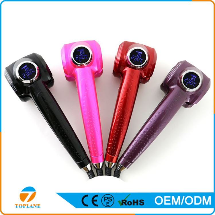 Electronic Beauty Hair Style Hot Sale Private Label LCD Hair Styler Curl Auto Rotating Magic