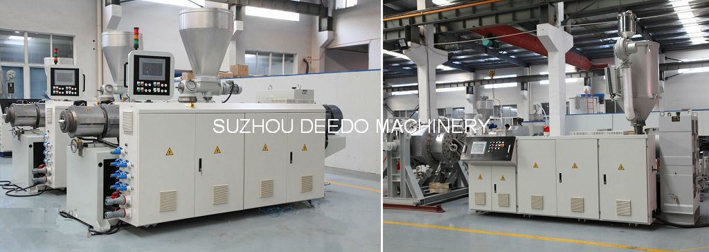 Plastic Extruder Machine For PPR PE PVC Pipe and Profile