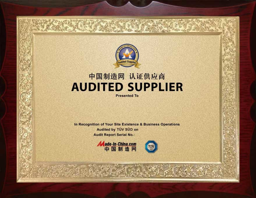 Certificated for AUDITED SUPPLIER