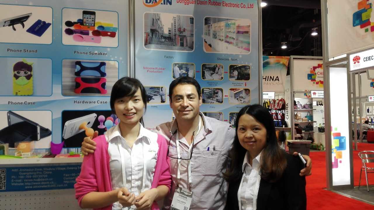 Clients at Las Vegas exhibition in USA(Augest 2th-5th 2015)