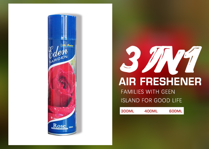 Roses scent the air freshener new packaging design