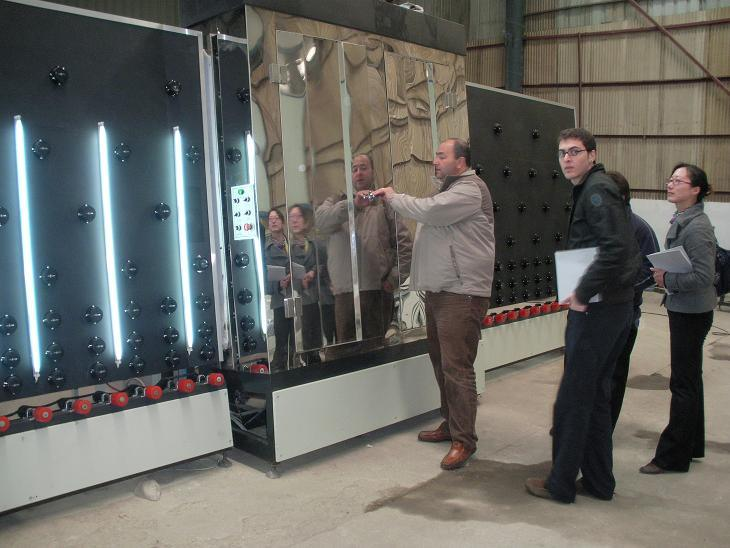 Argentina clients visit factory to buy glass cutting machine and Double glazing machine