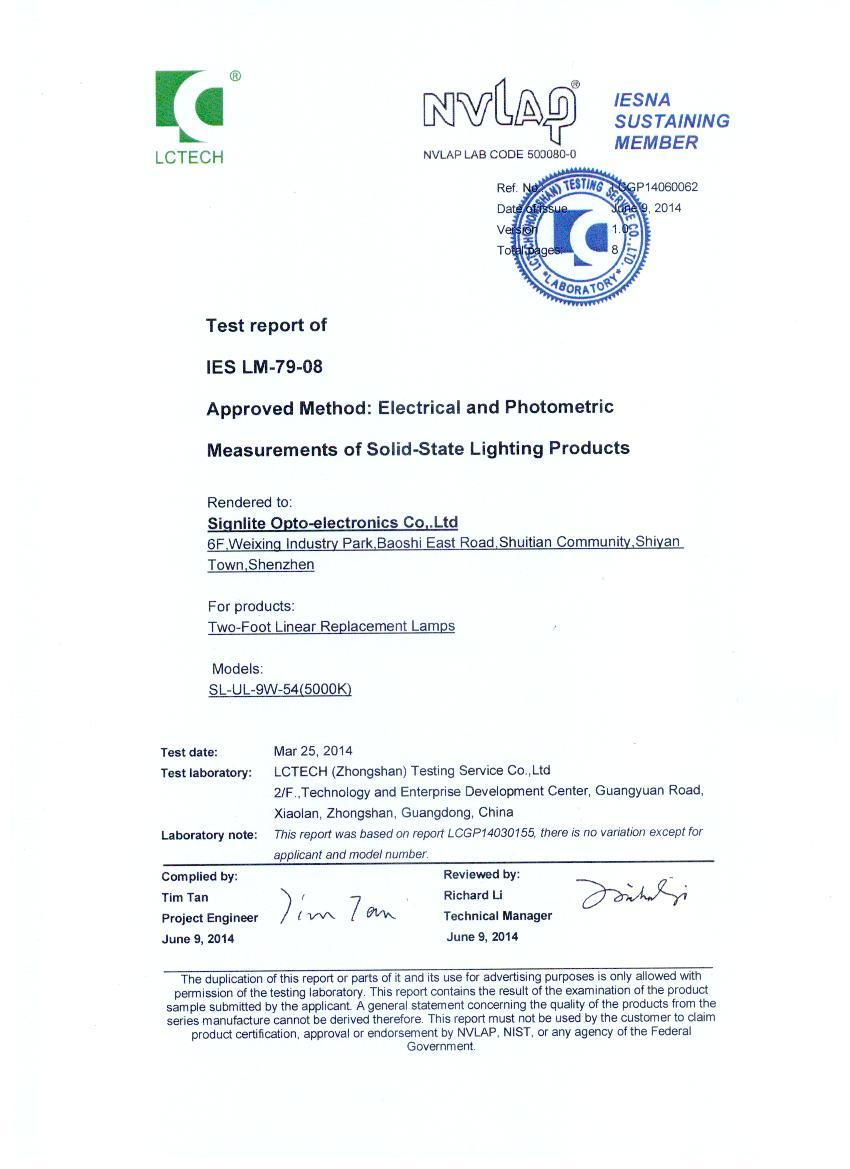 DLC Certification of Two-Foot Linear Replacement Lamps