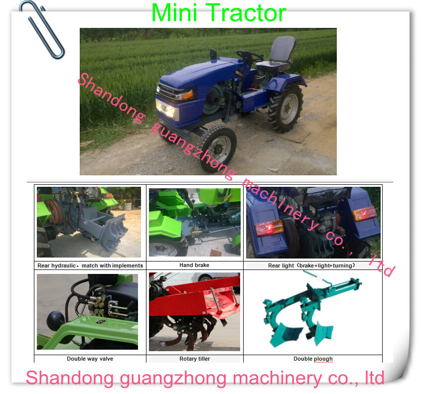 mini tractor, walking tractor 12hp to 20hp with power tillers