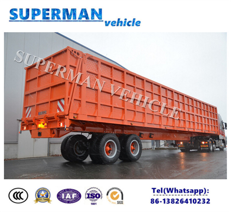13 Meters Two Axle Compartment Side Wall Cargo Van Semi Trailer
