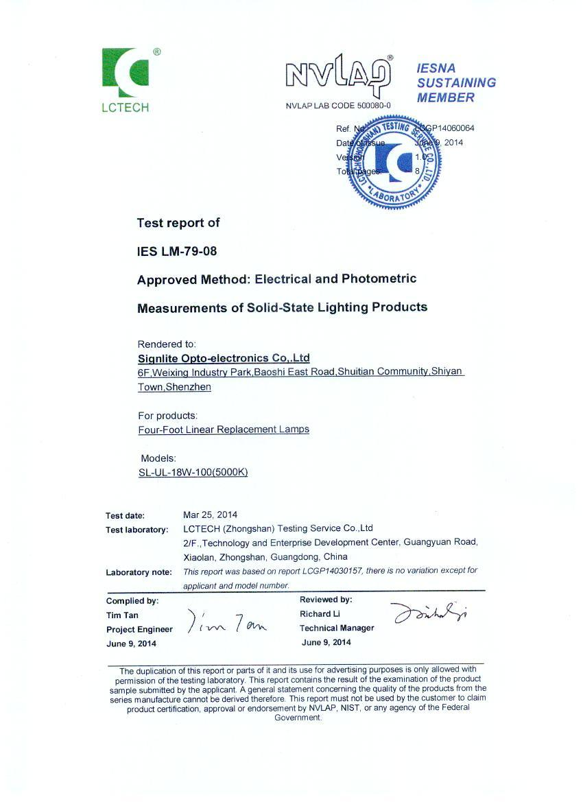 DLC Certification of Four-Foot Linear Replacement Lamps