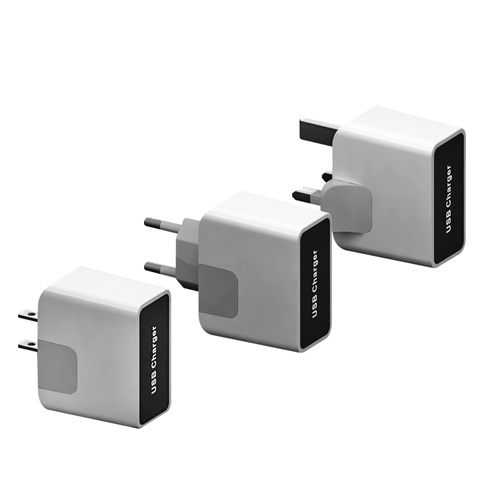 2-Ports USB Travel Charger with 5V2.1A