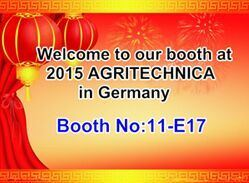 2015 agritechnica in Germany hannover