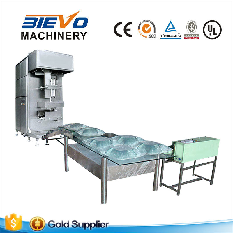 Plastic bag water filling line