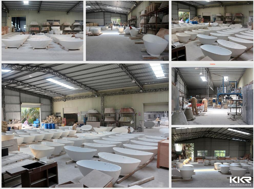 Acrylic Solid Surface Freestanding Bathub Factory View