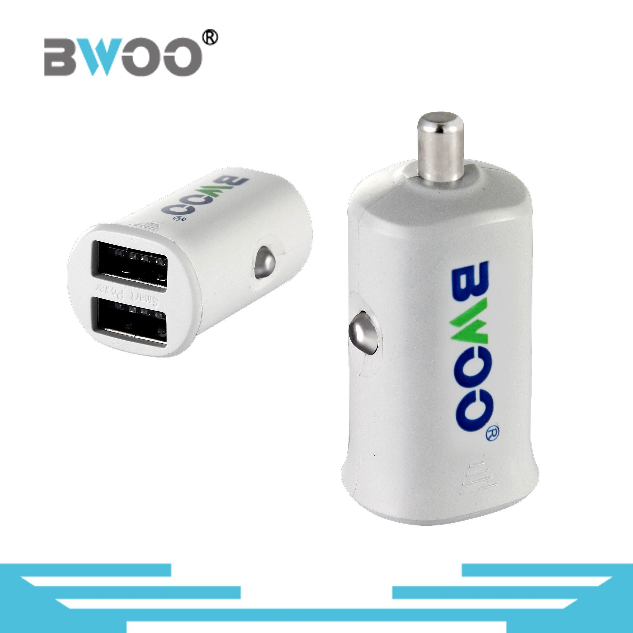 Dual USB Car Charger with 5V2.1A