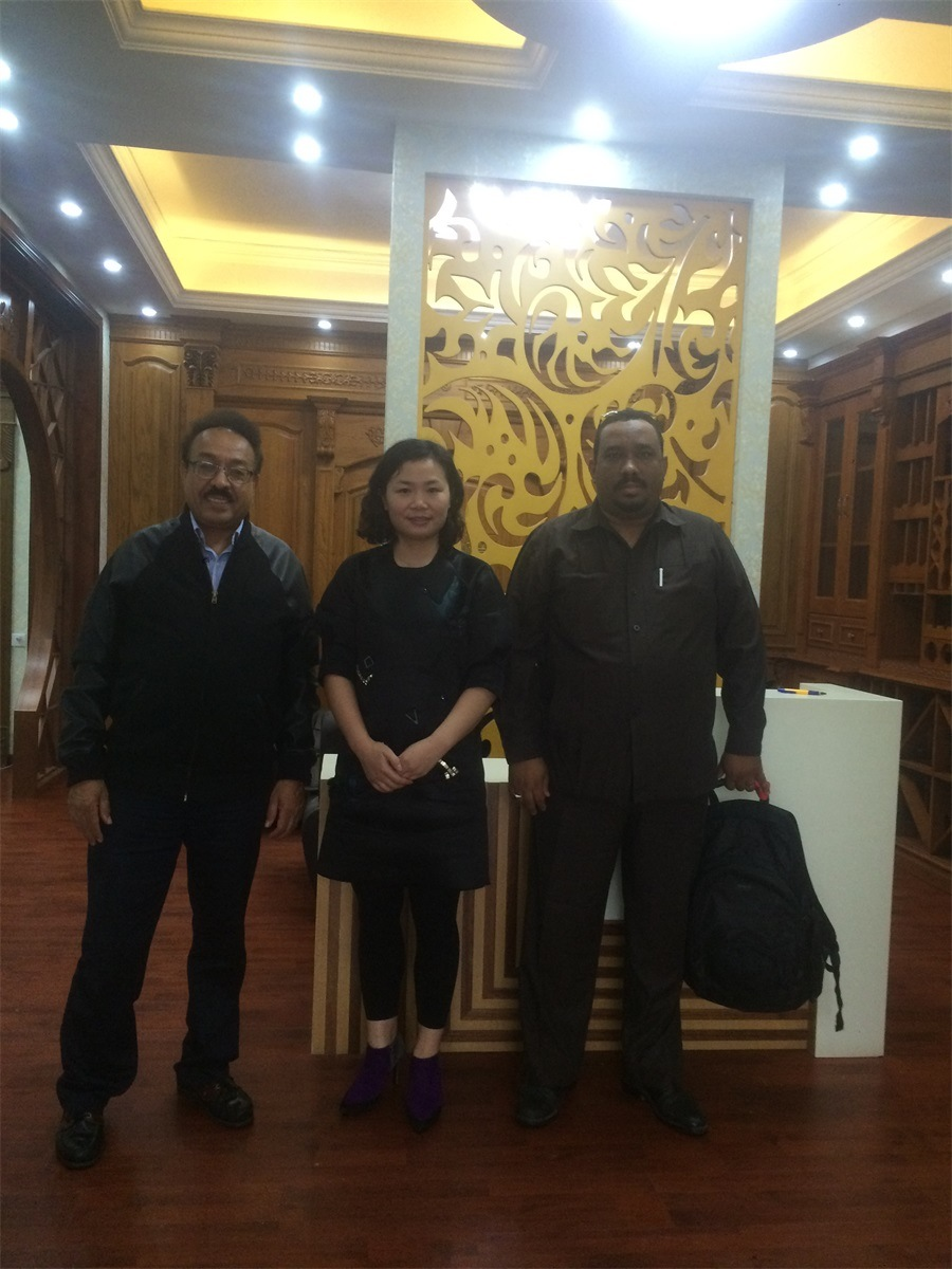 America Customers visiting GOSSPO wooden furniture factory