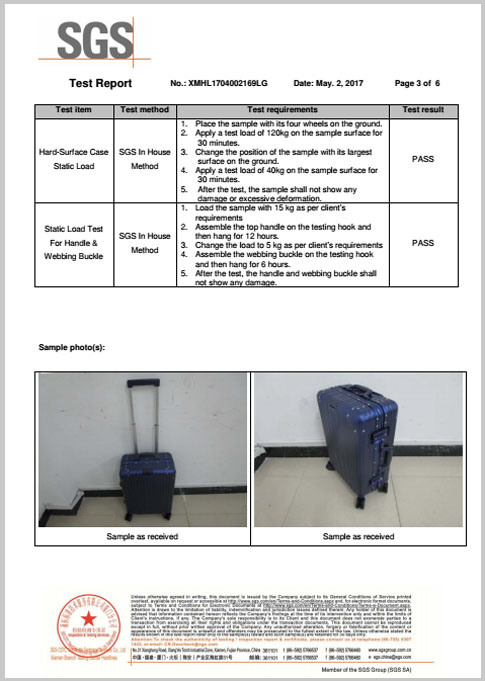 Luggage Certification