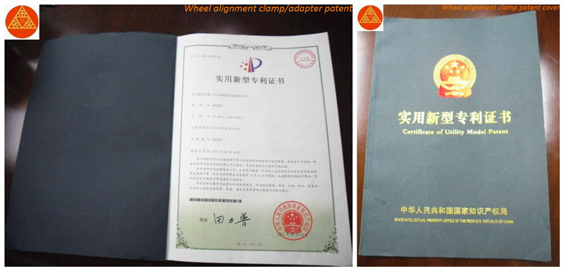 Wheel Alignment Patent Certificate
