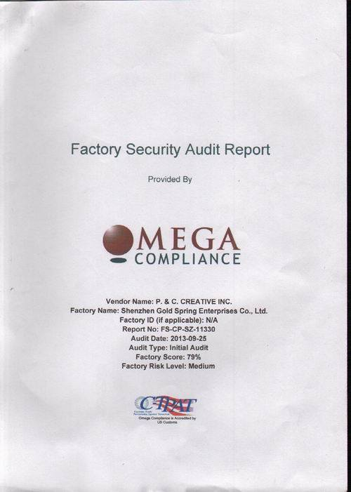 Factory security audit report