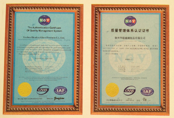 ISO Certificate of Quality Management System