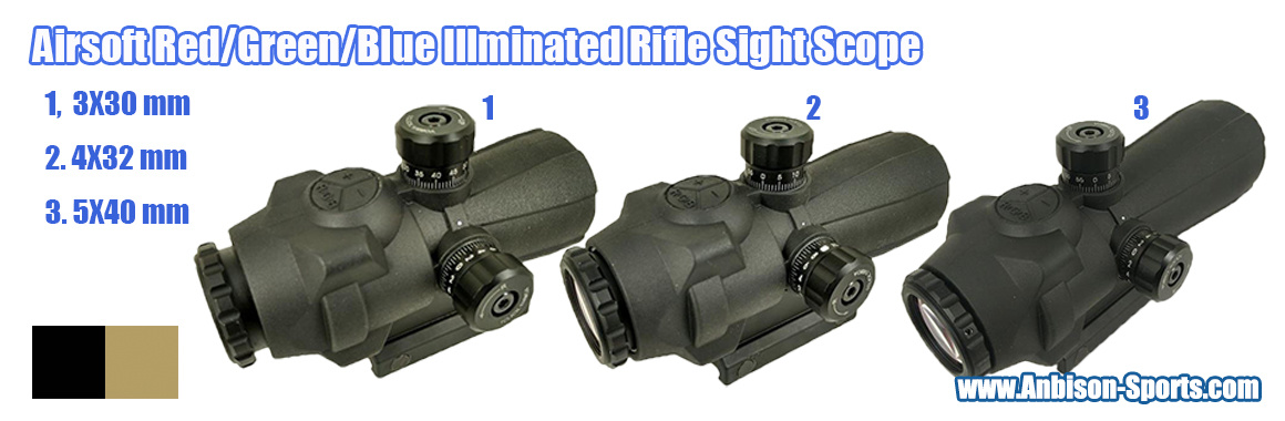 Airsoft Red/Green Dot Sight Rifle Scope Series