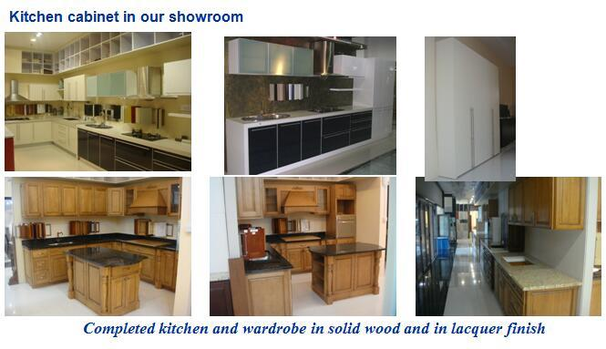 Kitchen cabinet in our showroom-2