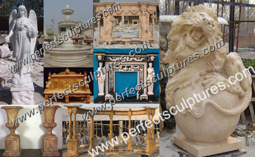 Offer Customized Dimension and Custom Design Garden Stone Carving Sculpture