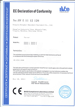 CE certificate of toy car