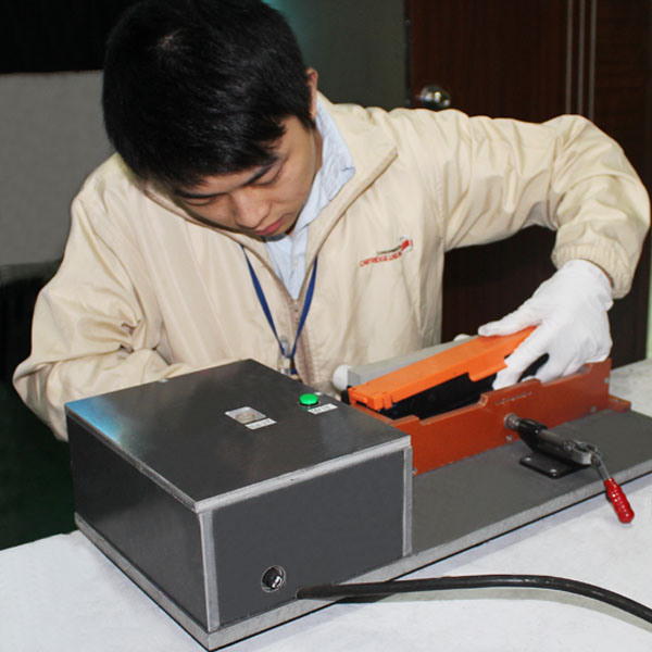 Cleaning toner testing in our factory