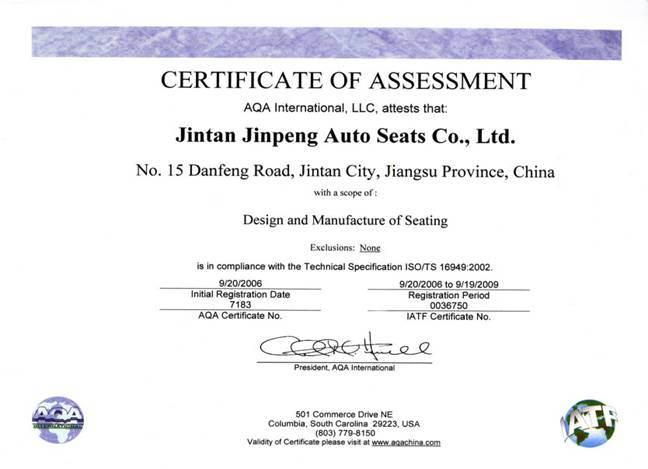 Certificate for China Compulsory Product Certification - Jiangsu ...