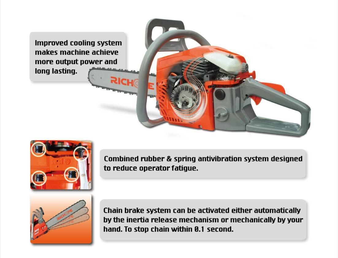 Chainsaw Improved Cooling System Features-3