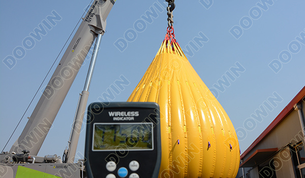 75T Load Test Water Bags Certificated by BV comply with LEEA 051