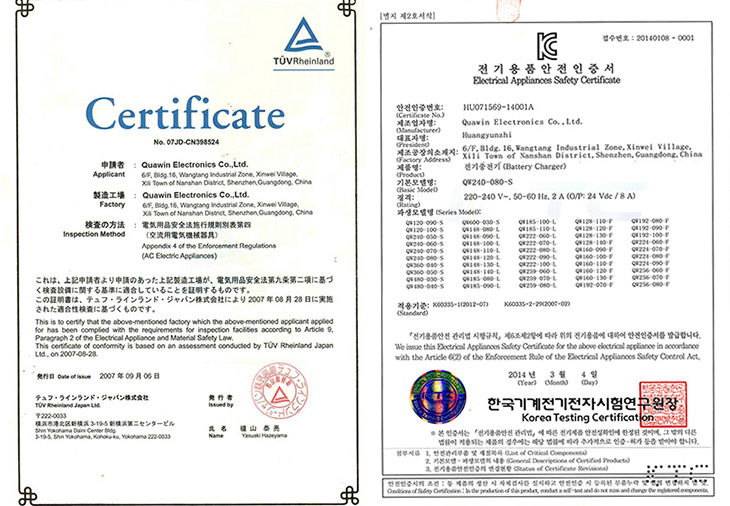 PSE certification