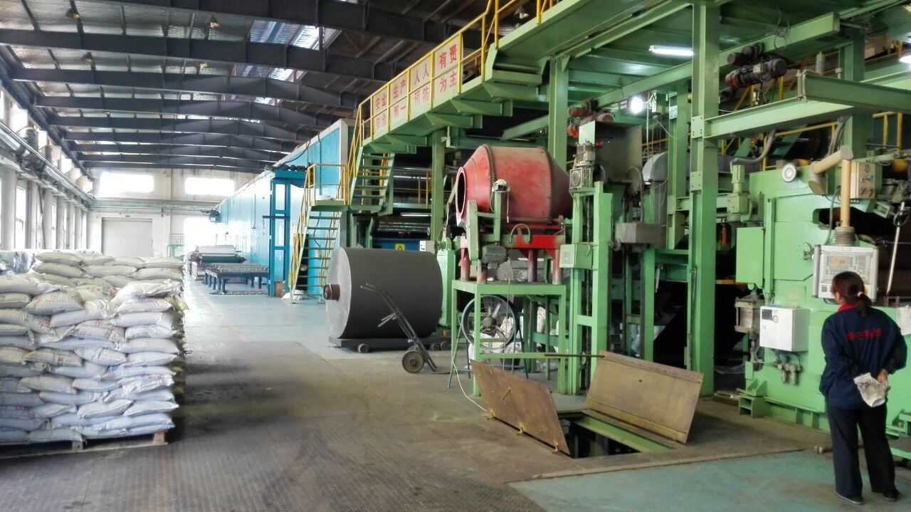 production line for abrasive cloth
