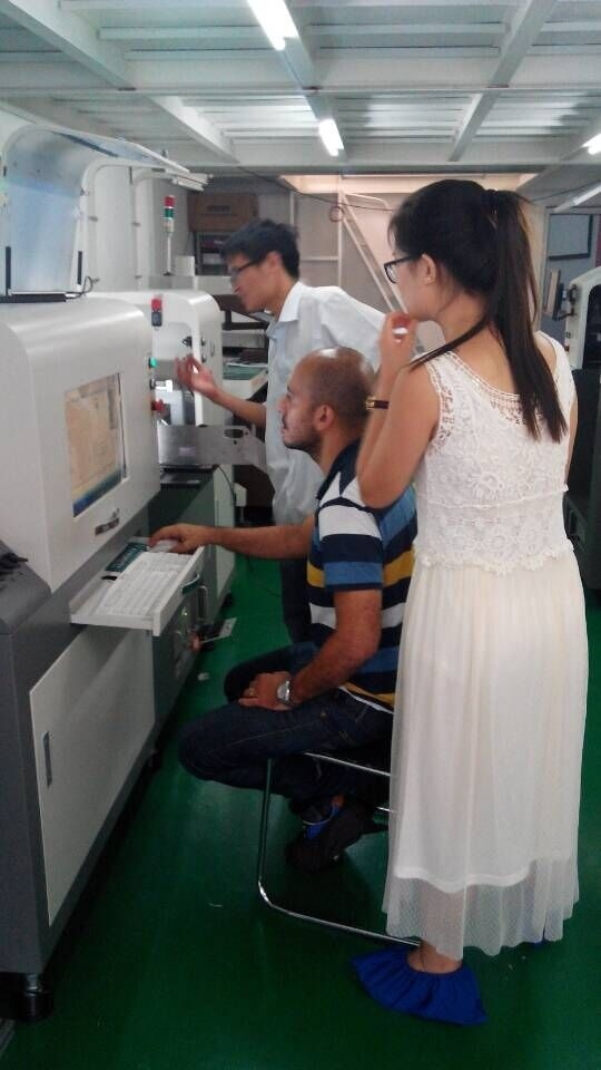 Egypt Customer trained SMT LED PCB Assemble Line in Sep,2015!