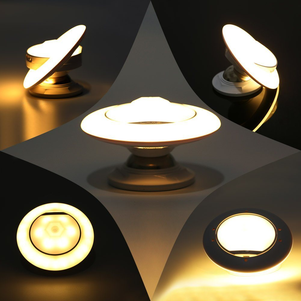 Humanization Design 360 Degree Rotating LED Night Lights with Dual Motion Sensor