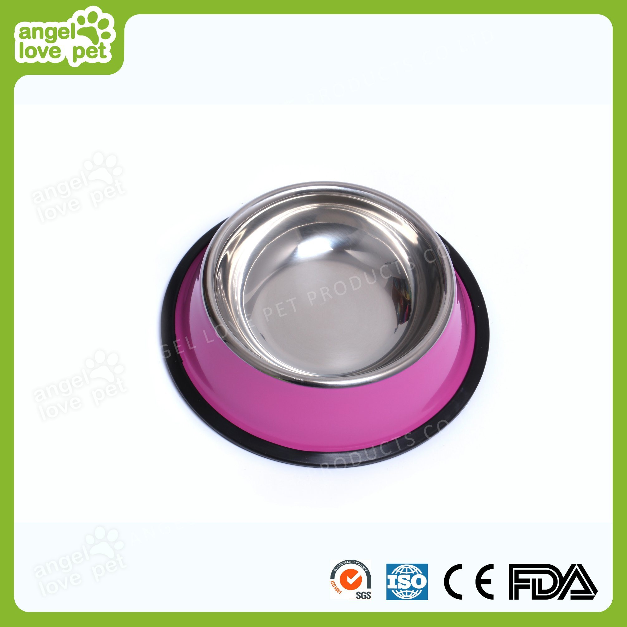 Colorful Customized Stainless Steel Pet Bowl, Dog Product