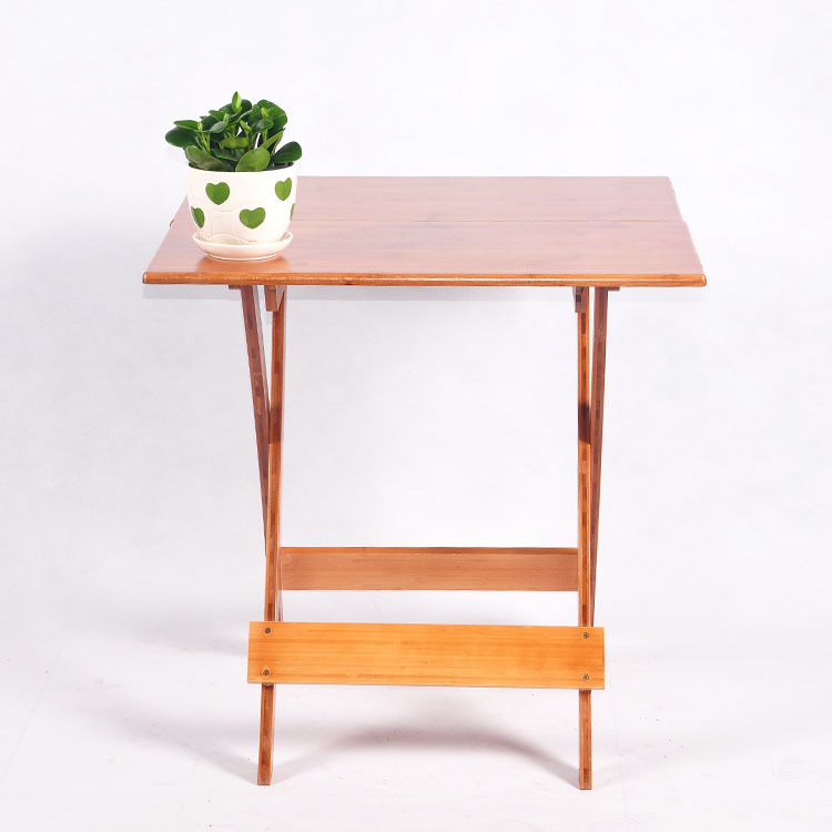 Simple Bamboo Folding Table Furniture Square Table Portable Dining Table