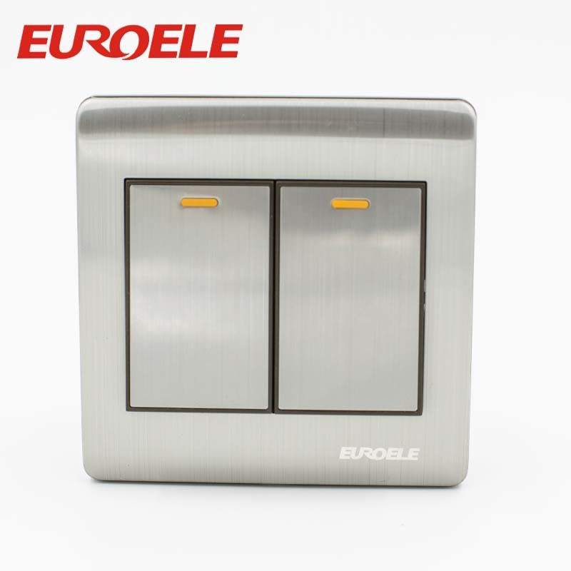 Stainless steel sliver color wall switch