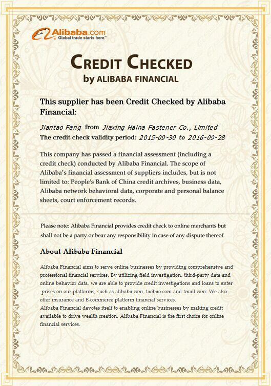 CREDIT CHECKED