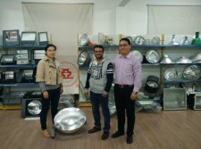 Customer visting our factory