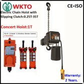 Concert Stage Up and Down Electric Chain Hoist 1T Single Phase 220V 110V