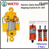 35T Electric Chain Hoist with Hook with Overload Clutch-Wireless Remote Control