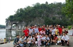 VEISE organized employees to travel to Guilin to spend the motherlands birthday