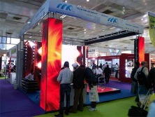 MRLED main push X06 multifunction led mesh display in 2013 LED expo , Delhi
