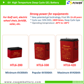 CSPOWER HTL series 6V High Temperature Deep Cycle GEL Battery upto 6V420Ah