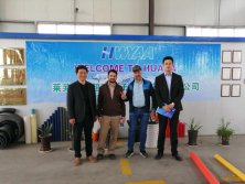 Iran customers visiting us for drip pipe machine