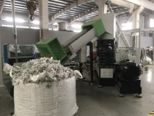 PP Woven Bag Recycling Pelletizing Machine With Metal Detector